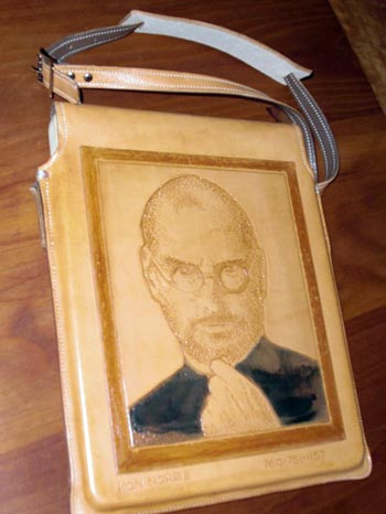 Steve Jobs Immortalized on Leather iPad Case