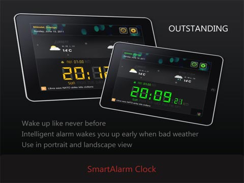 Smart Alarm Pro for iPad Keeps You Informed During Your Wake-Up Routine