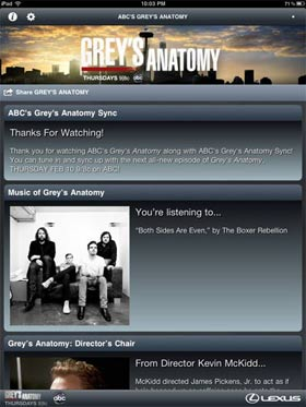 First Look: ABC's Grey's Anatomy Sync iPad App Review 10