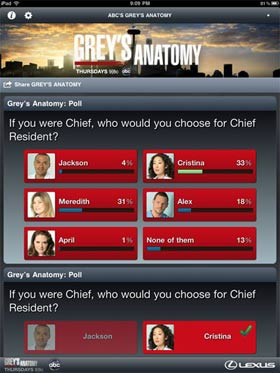 First Look: ABC's Grey's Anatomy Sync iPad App Review 5
