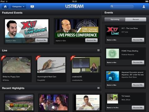 Ustream Launches iPad App