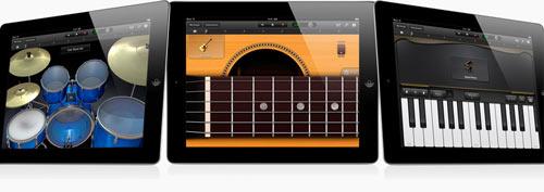 garageband with iPad 2